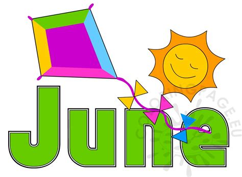 In June summer month june image coloring page