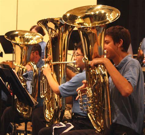 tuba section concert band