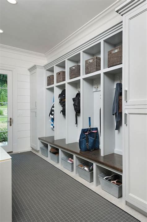 hallway lockers for home open mudroom lockers transitional laundry room blue