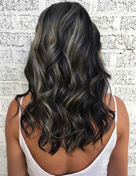 silver brown hair with highlights 30 best highlight ideas for dark brown hair frisuren und