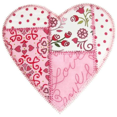 Patchwork Hearts - patchwork machine embroidery applique design