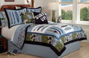 surf quilt bedding boys surfing bedding set in or