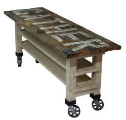Gather reclaimed wood lettered kitchen island or counter height dining