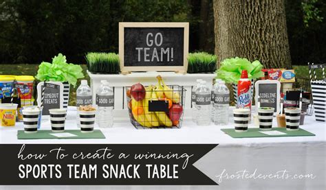 Snack Table Ideas by Easy Food Ideas Sports Team Snack Table
