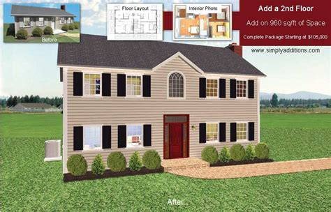 Split Bedroom House Plans second story addition costs