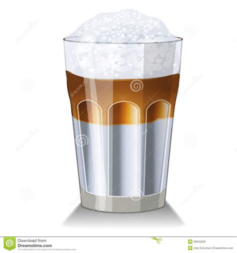 Latte Macchiato Glass Royalty Free Stock Images   Image: 36642259