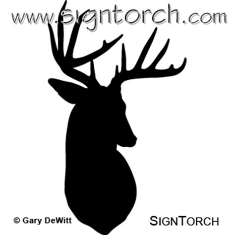 buck deer  signtorch turning images  vector