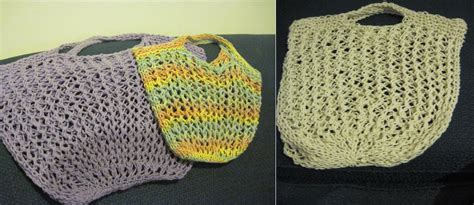 pouch knitting pattern knitted mesh grocery bags peace through knitting