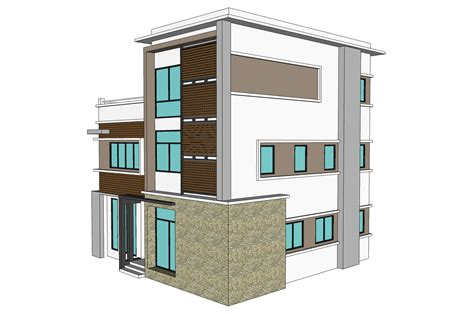 house structural design 3 storey town house office nkd