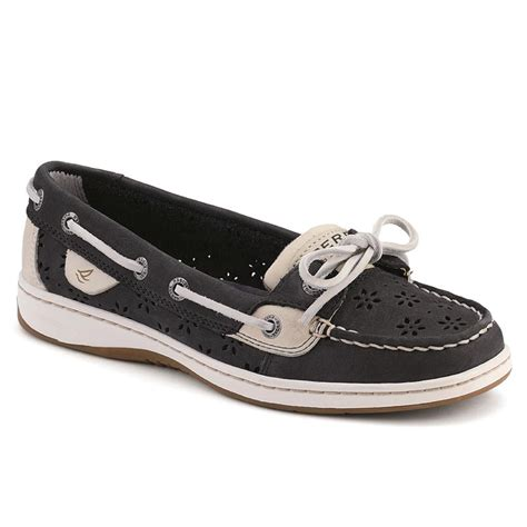 s floral perf leather angelfish boat shoe