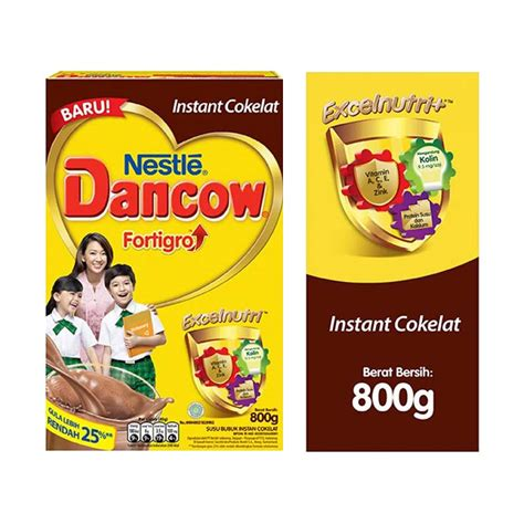 Dancow Fortigro 800 G jual dancow instant fortigro cokelat formula 800 g