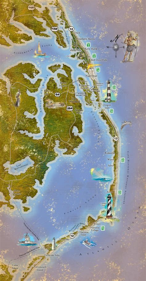 outer banks lighthouses map www pixshark com images galleries with a bite if you have never been to the outer banks of north