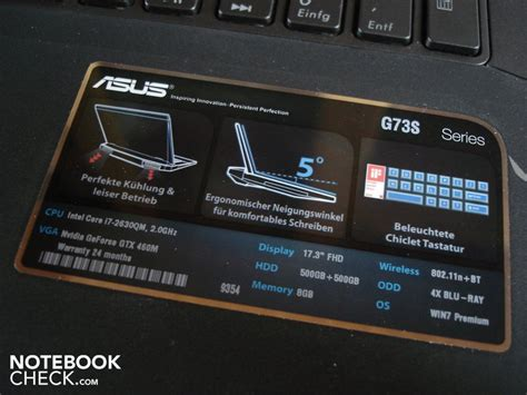Asus Republic Of Gamers Laptop Touchpad Driver review asus g73sw notebook notebookcheck net reviews