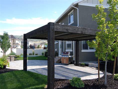 Tain Backyard Timber Frame Pergola Contemporary Patio