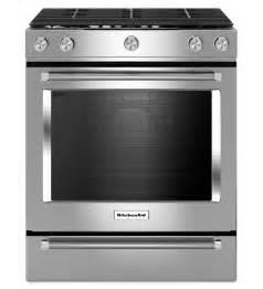 kitchenaid 174 30 inch 5 burner gas convection front