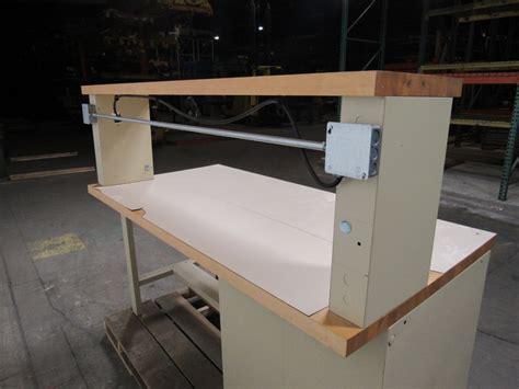 stanley work bench stanley vidmar 4 drawer work bench station 6 x3 butcher block lamanite top
