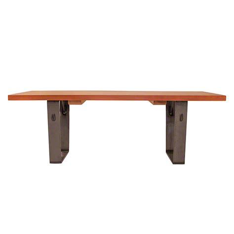Metropolitan Coffee Table Metropolitan Modern Coffee Table Steel Metal Base Solid Cherry Maple Walnut Plank Table