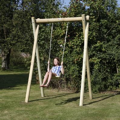 single outdoor swing langley single swing frame garden swings buy online