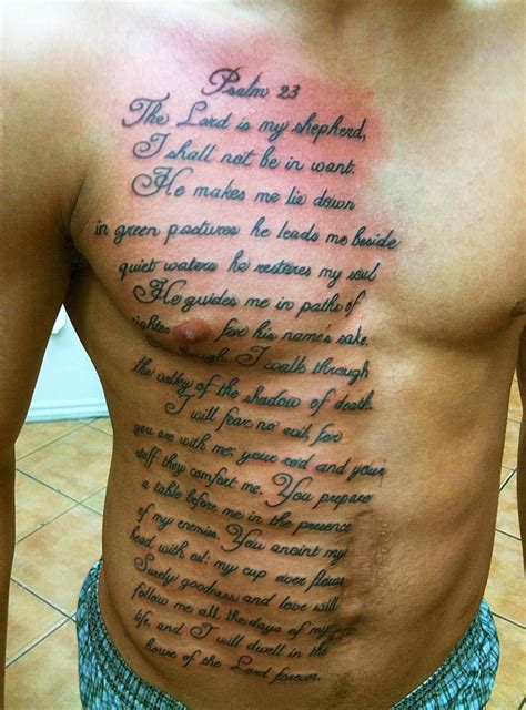 tattoo from the bible quotes psalm quotesgram