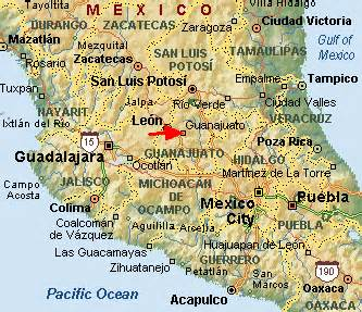 Guanajuato Mexico Map by Mexico Map Map Picture