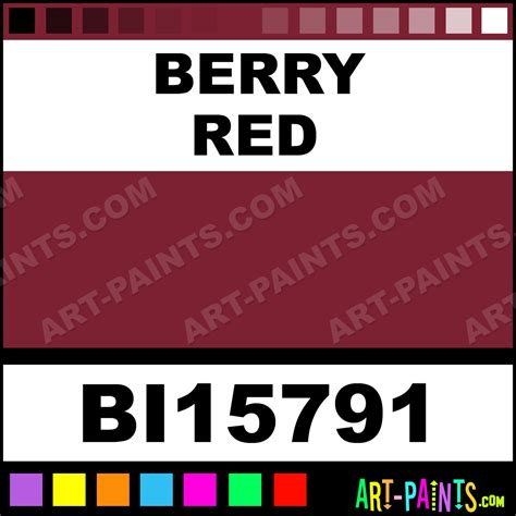 berry color berry red soft matte fabric textile paints bi15791