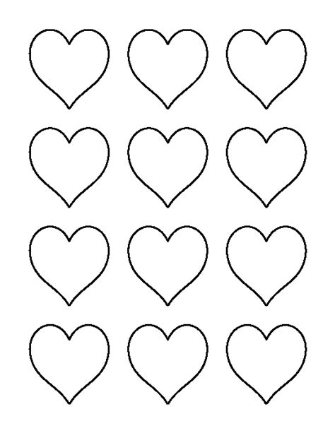heart pattern download 2 inch heart pattern use the printable outline for crafts