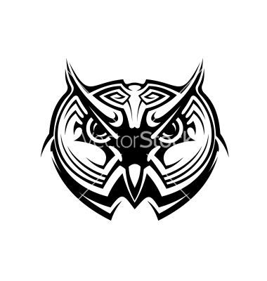simple tribal owl