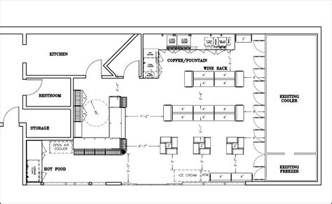ice cream shop floor plan 500 1000 sqft layouts shopco u s a inc