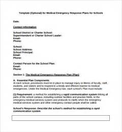emergency response checklist template sle emergency response plan template 9 free