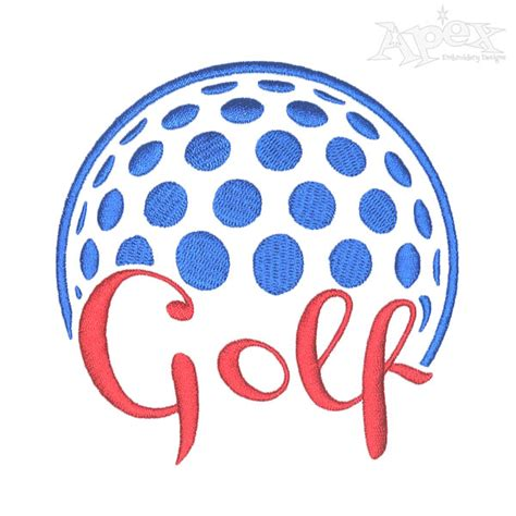 embroidery design golf golf embroidery design