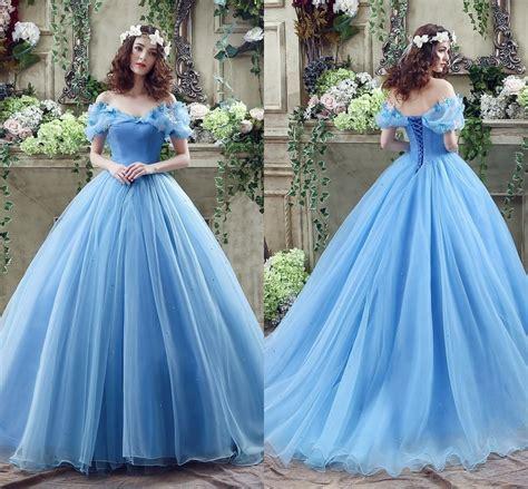 Cosplay Cinderella Wedding Dresses Ball Gown Blue Organza Princess Bridal Gowns 7708424733513   eBay