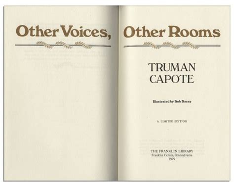 truman capote other voices other rooms pdf lot detail gorgeous signed luxury copy of truman capote s other voices other rooms