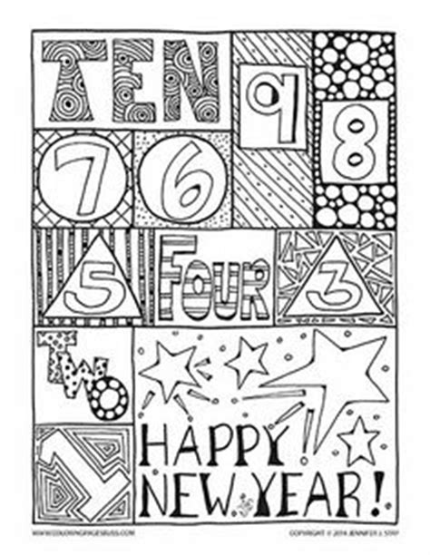 free new year for adults festive new year hat coloring page coloring new year s