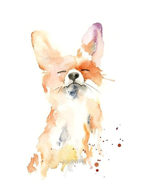 25 beautiful watercolor fox ideas on fox painting fox and watercolor fox tattoos