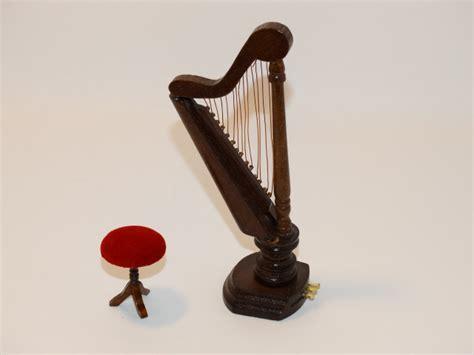 Harp Stools by Dollhouse Harp And Stool Wood Velvet