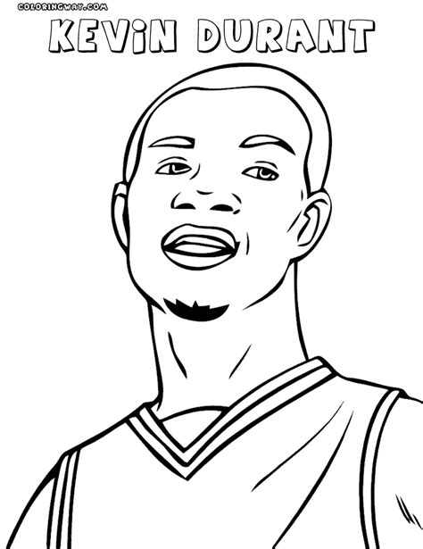 coloring pages kevin durant kevin durant basketball coloring pages sketch coloring page