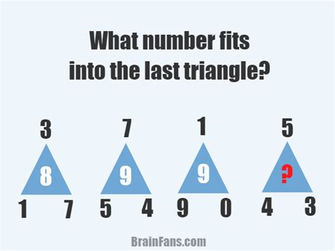 triangle pattern quiz number series puzzle number and math puzzle brainfans