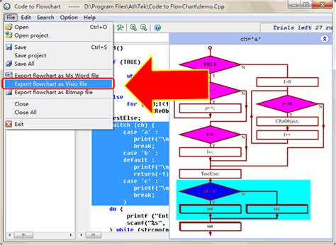 flowchart generator automatic flowchart ns chart generator from source code
