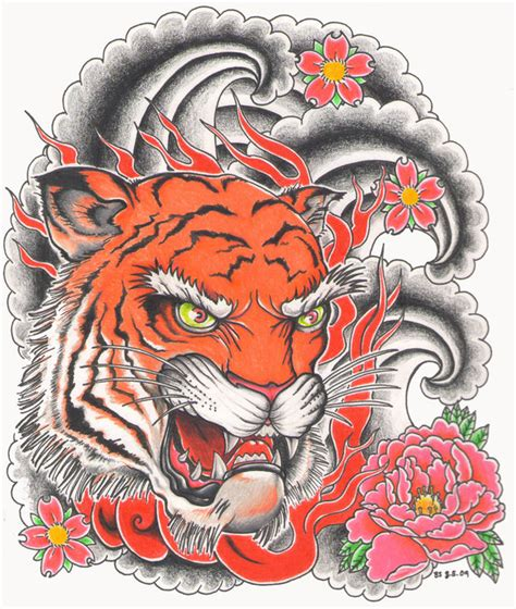 tattoo flash tiger the gallery for gt traditional japanese tiger tattoo flash