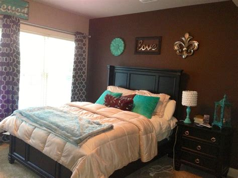 bedroom colors brown best 25 teal brown bedrooms ideas on pinterest living