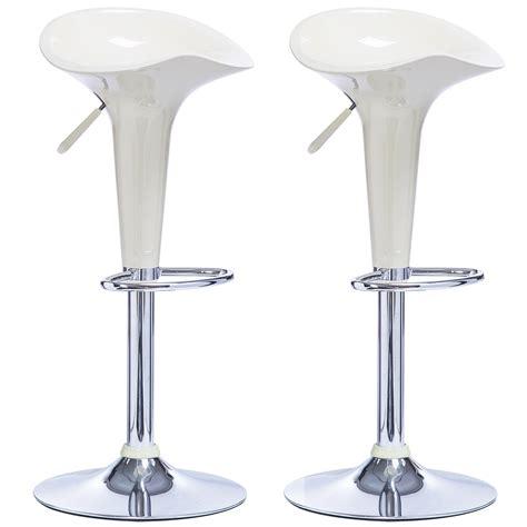 X Bar Stool by 2 X Bar Stools Kitchen Chair Swivel Breakfast Stool Chrome