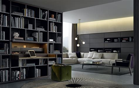 poliform libreria bookcases poliform wall system news 2015