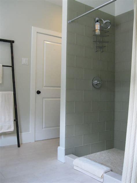 glass subway tile shower Bathroom Asian with bathroom