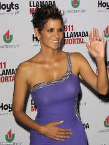 Whats Up With The Henna On Halles by Halle Berry And Proud Cradles Baby Bump On