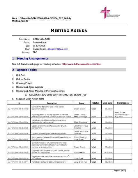 meeting agenda template doc agenda format free blank printable certificates exle of