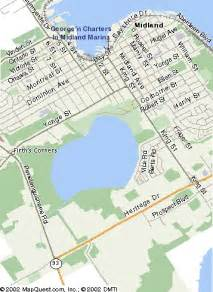 where is midland on the map how to find george n charters in midland ontario canada