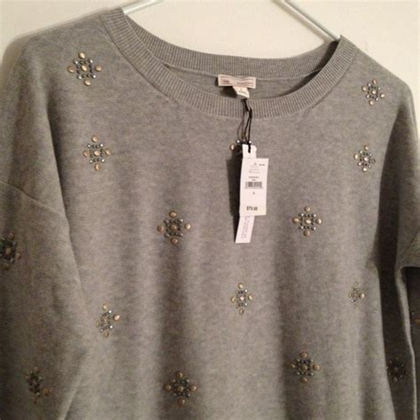 Embellished Sweater 81 gap sweaters hold grey embellished sweater from