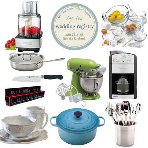 The Wedding Registry   Top 10 Kitchen Must Haves   Kitchen