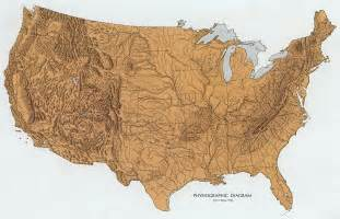 map of the united states with landforms altas of florida