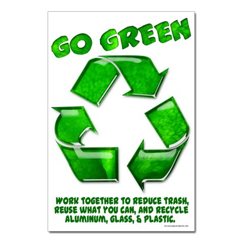 Mousepad Gambar Logo ai rp407 03 go green work together to reduce trash recycling poster